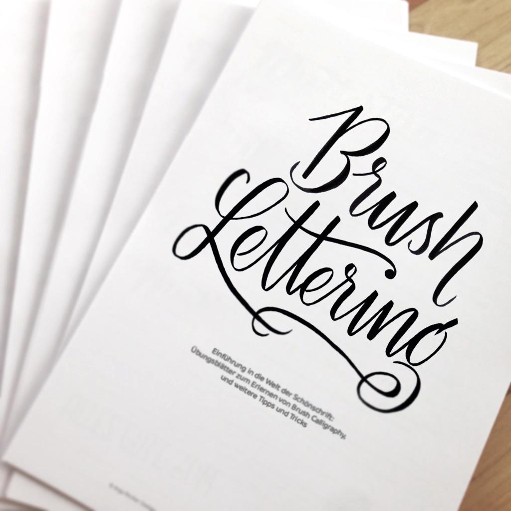 Brush Lettering Workshop mit Anja Pircher in der Guten Stube Andelsbuch.