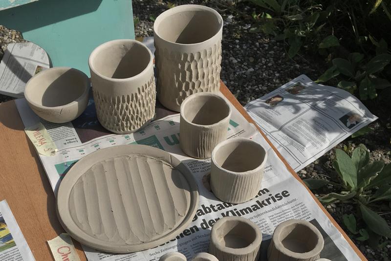 Keramik Workshop in der Guten Stube Andelsbuch.