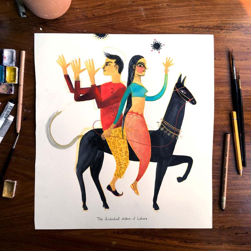 Zeichnen, Illustieren und Andelsbuch neu kennen lernen mit Bianca Tschaikner.