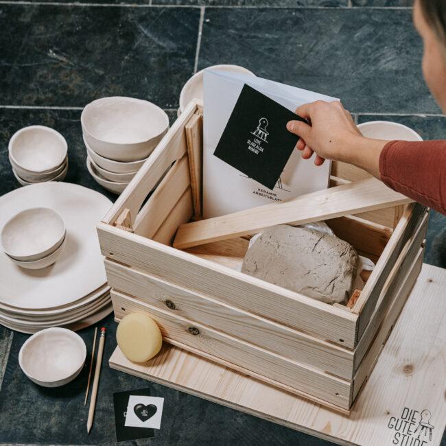 Keramik-Kit für Zuhause. Die Gute Stube Andelsbuch. Foto von Pia Pia Pia.