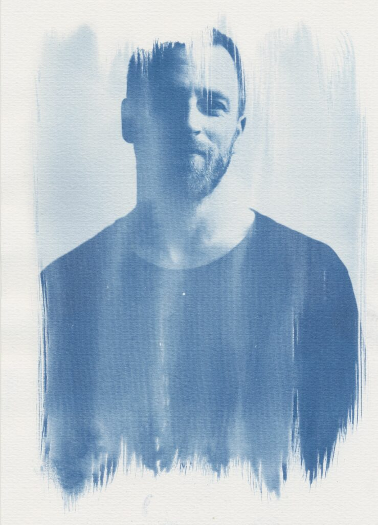 Cyanotypie Portrait-Foto Druck von Martin Schachenhofer.